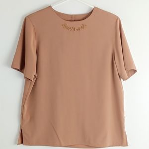 Alfred Dunner Camel brown blouse